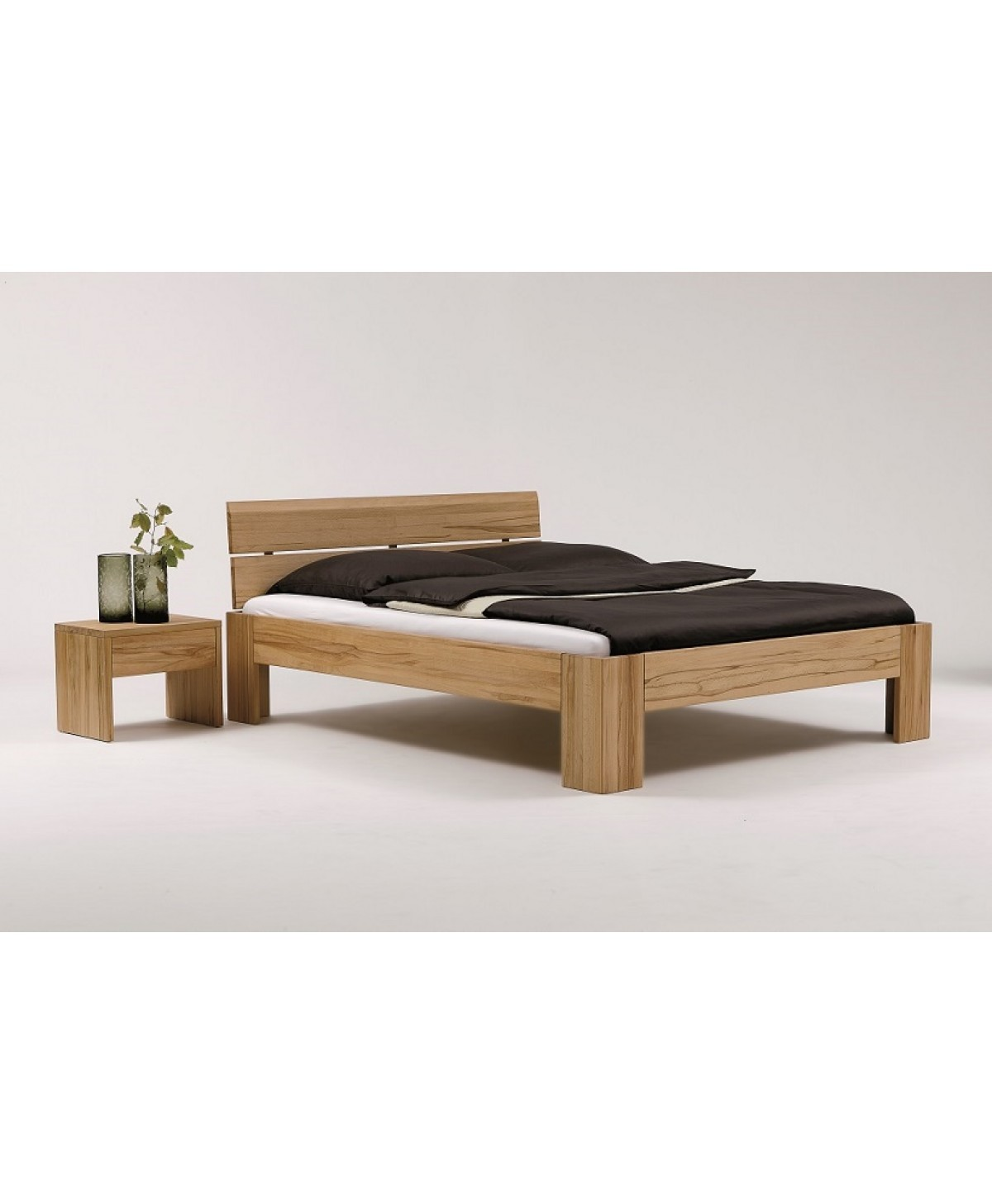 Bed 140x200 Hout.Houten Bed Mika