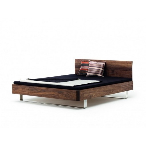 Design bed zwevend hout noten Comm ci