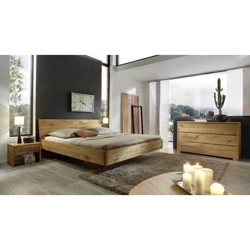 Bed 140x200 Hout.Massief Houten Bed Amsterdam Eiken Wild