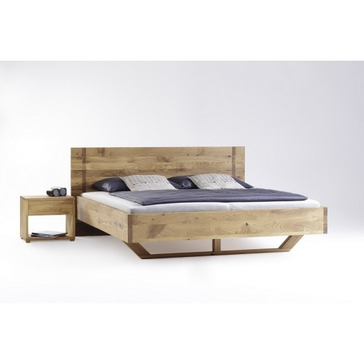Bed massief eiken hout Nobel