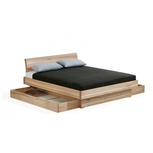 Bed 140x200 Hout.Bed Met Laden Morell Massief Hout 2 Persoons Dormiente