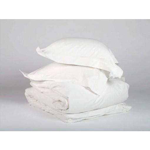 Eco dekbedovertrek Warm white biologisch en Fairtrade katoen satijn Yumeko
