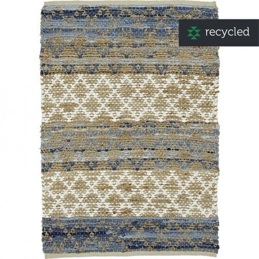 Jute vloerkleed recycled katoen HACIENDA 130X180 cm