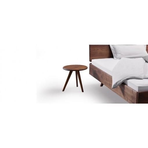 Rond bijzettafel nachtkastje dana massief hout for Ronde nachtkastjes