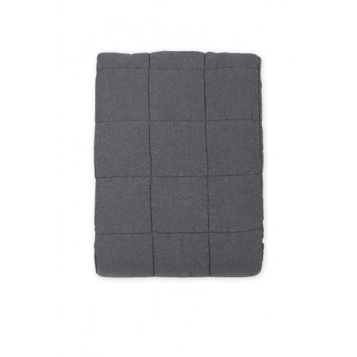 SALE House in Style plaid bedsprei NICE Anthracite linnen