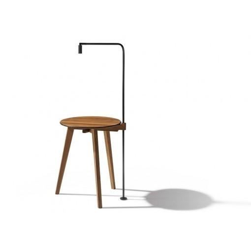 Salontafel HI! bijzettafel hout en glas en leeslamp optie Team 7