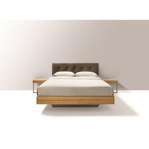 Team 8 zwevend design bed float met leren hoofdbord