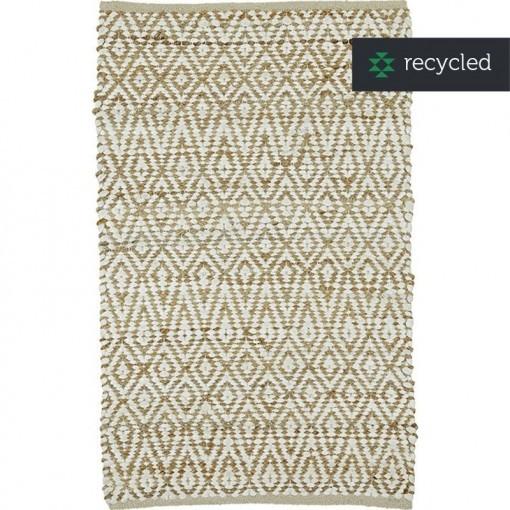 Vloerkleed jute & recycled katoen COTTAGE 130x180 cm