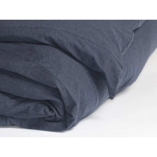 Dekbedovertrekset jersey indigo blue