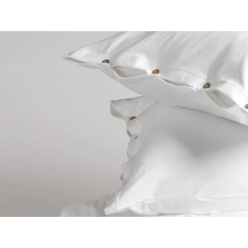 Dekbedovertrekset jersey pure white