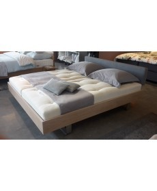 SALE Design bed STEP-G eiken white wash 180x200 cm Holzmanufaktur