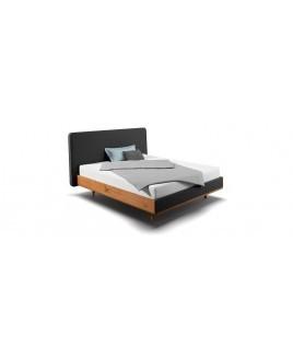 Design bed hout TALOS met gestoffeerd hoofdbord Holzmanufaktur