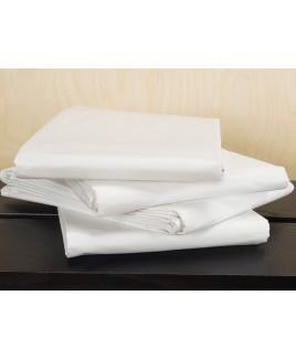 Bio-renforce hoeslaken wit cretonne hoekhoogte 30 cm TrueStuff
