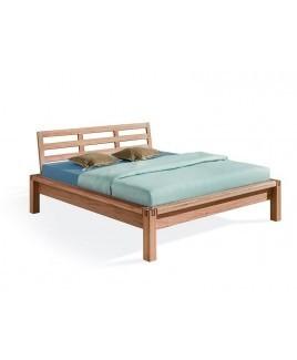 Dormiente bed MILANO massief hout met hoofdbord metaalvrij