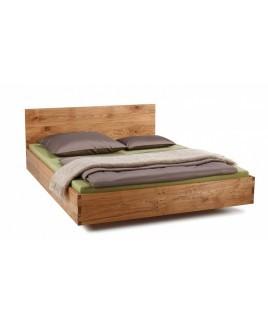 Eikenhouten bed NAPS massief houten hoofdbord