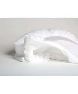 Hoeslaken jersey pure white biologisch Yumeko