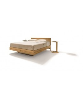 TEAM 7 bed FLOAT zwevend design massief hout metaalvrij
