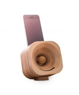 Trobla houten luidspreker voor smartphone en mobiel
