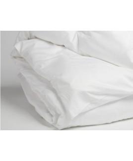 Kinder dekbedovertrek katoensatijn pure white Yumeko