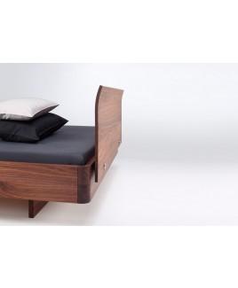 Design bed zwevend hout noten Comm ci