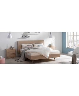 Houten bed TALOS met houten hoofdbord Holzmanufaktur