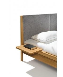 Bedplankje CONSOLE hangend nachtkastje aan bed hout TEAM 7
