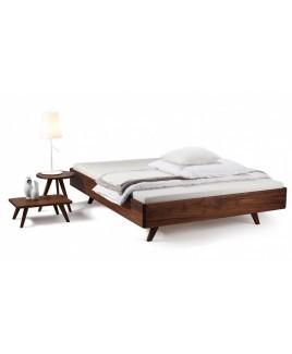 Bed massief hout noten Dana exclusief hoofdbord