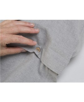 Flanellen velvet dekbedovertrek lichtgrijs light grey Yumeko biologisch flanel katoen