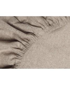 Yumeko flanel hoeslaken STONE BROWN velvet