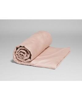 Hoeslaken Dusty Rose katoen satijn biologisch Yumeko