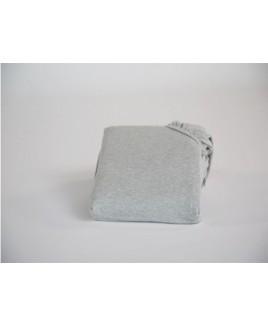 Jersey hoeslaken White Grey biologisch katoen Yumeko