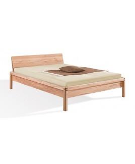 Massief houten bed Piu Dormiente met hoofdeinde metaalvrij (optie kussens)