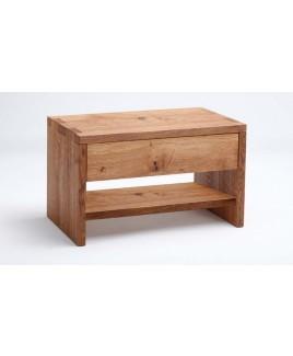 Nachtkastje NAPS met lade en extra plank massief hout