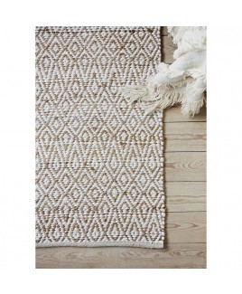 Vloerkleed hennep & recycled katoen COTTAGE 130x180 cm