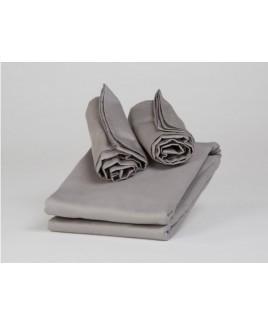 Dekbedovertrek set katoen satijn grijs stone grey biologisch ecologisch Yumeko