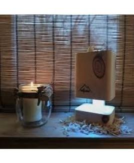 Zirben lamp PURILAMP SCENT lucht zuiverend met led verlichting