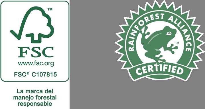 FSC duurzaam beheerde bossen en Rainforest Alliance keurmerk